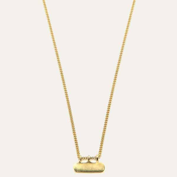 Lobibeads-ketting-met-ovaal-hangertje-goud