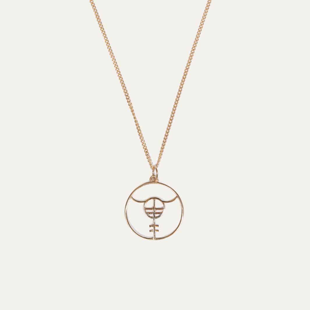 Hanger met Lobibeads logo goud