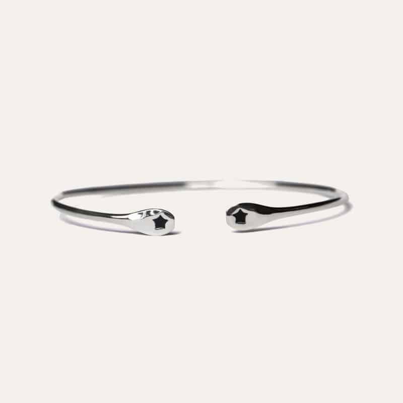 star bangle zilver