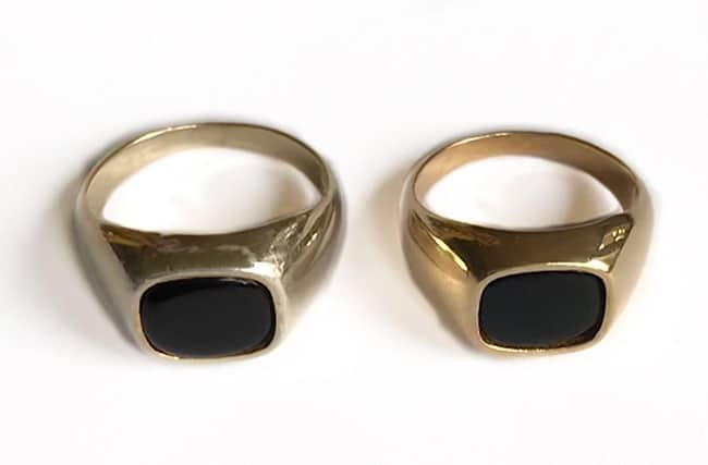 Materiaal sieraden wat verkleurt