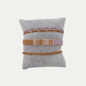 Blauw goud armbanden setje