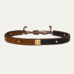 Handgeweven armband beige