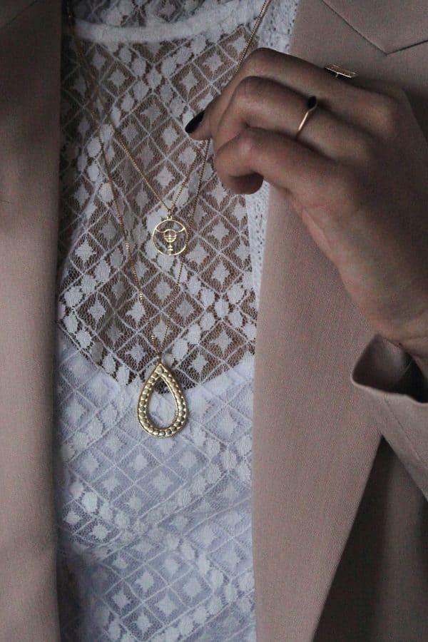 ketting met ovalen hanger