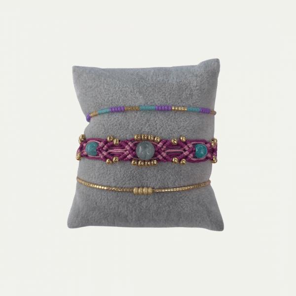 Kleurrijk armbandensetje