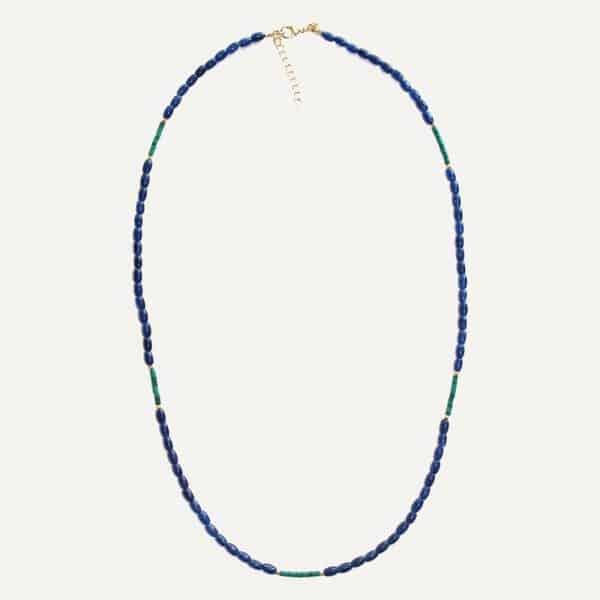 Lange blauwe ketting