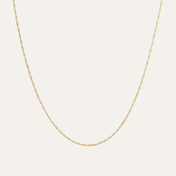 Gouden ketting zonder hanger 50 cm