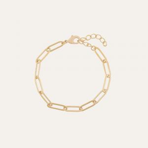 Schakelarmband goud chain verstelbaar