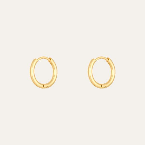 kleine gouden ringen oorbellen