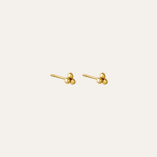 Gouden knopjes oorbellen