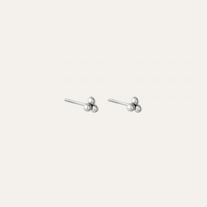 Kleine zilveren knopjes oorbellen