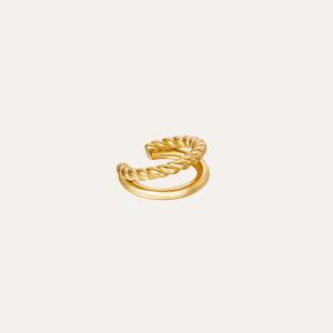 dubbele earcuff goud