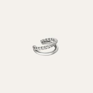 Dubbele earcuff zilver