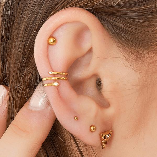 earcuff gedraaid goud