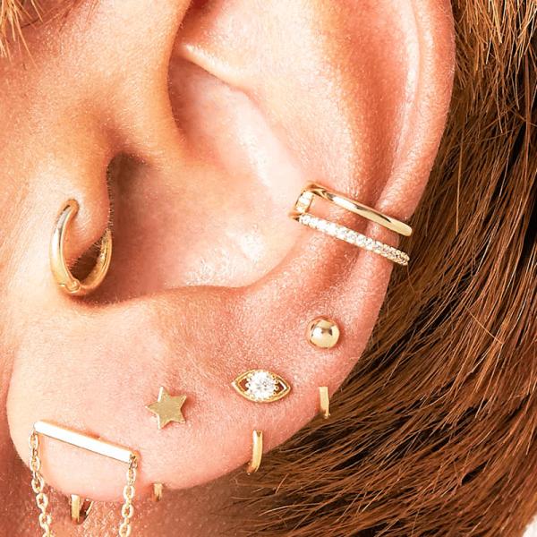 earcuff met steentjes