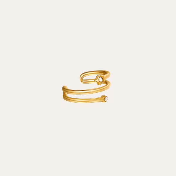 spiraal gouden earcuff