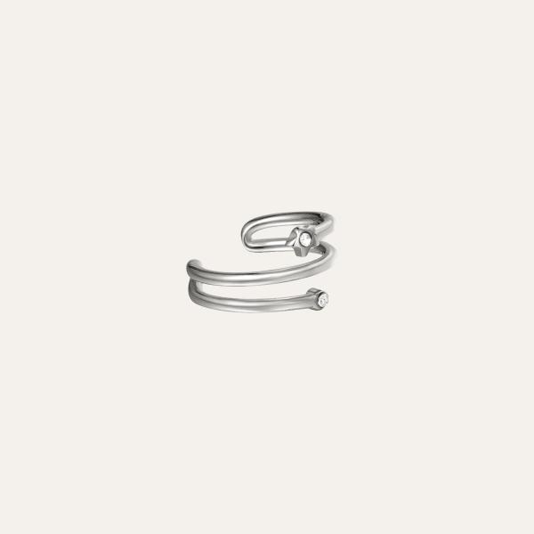 spiraal zilveren earcuff