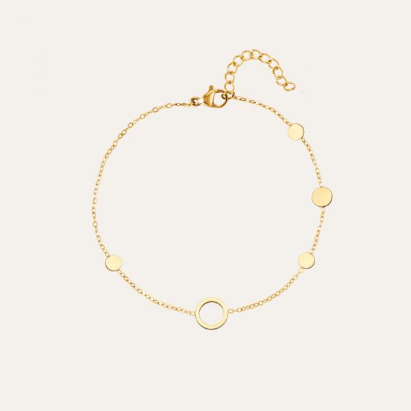 armbandje met cirkel goud